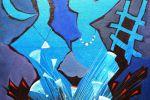 10. Кагаров Медат. Встреча при луне. Х.,м. 100х80 см. 1995 г.