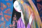 163. Кагаров Медат. женщина-птица 08г. 70х60 х.м.