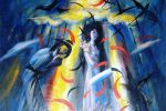 17. Кагаров Медат. Рождение новой луны. Х.,м. 120х114 см. 1996 г.
