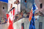 184. Кагаров Медат. Прохожие. Х.,м. 90х80. 2009 г.