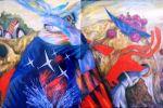 26. Кагаров Медат. год красного быка 99г. 100х180 х.м.