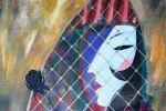 285. Кагаров Медат. Чёрная роза. Х.,м. 90х80 х.м. 2009 г.