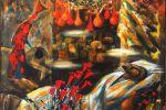 31. Кагаров Медат. знакомые цветы незнакомого города 2000г. 132х149 х.м.