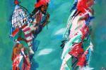 327. Кагаров Медат.тополек мой в красной косынке 10г. 145х97 х.м.