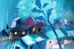 330. Кагаров Медат. К вечеру. Х.,м. 2010 г. 47х34 см