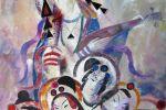 355. Кагаров Медат.тихая мелодия 100х85 х.м.