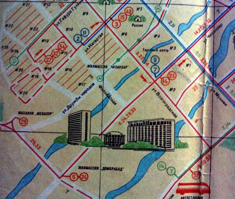 На карте-схеме 1966 года уже