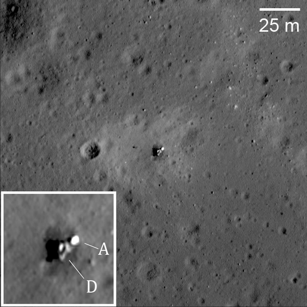 Зонд LRO разглядел на Луне следы и рюкзаки астронавтов Аполлонов