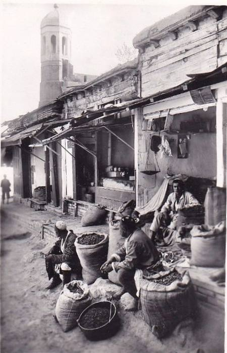 Торговцы сухофруктами в старом городе близ Кукельдаша, 1928 1