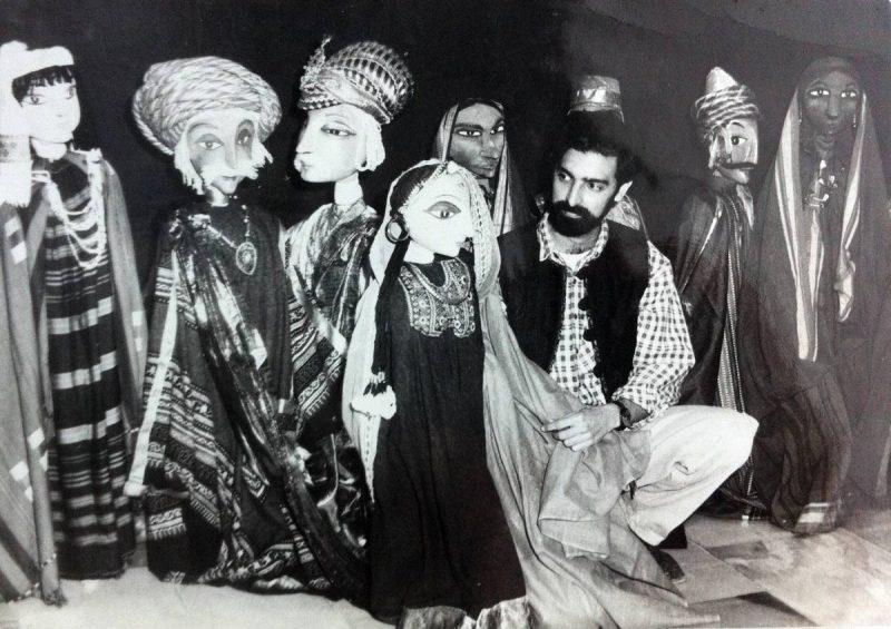 Дади с куклами 1988г