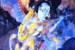 1. Кагаров Медат. Вечерняя мелодия. Х.,м. 80х80 см. 1993 г.
