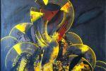 11. Кагаров Медат. Вечер III. Х.,м. 100х100 см. 1995 г.