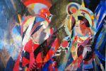 12. Кагаров Медат.Турфанский дуэт. Х.,м. 95х135 см. 1995 г.