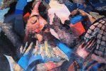 13. Кагаров Медат.Человек и птицы. Х.,м. 99х74 см. 1995 г.