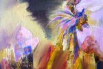 130. Кагаров Медат. мальчик с птицей 08г. 60х60 х.м.