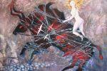 132. Кагаров Медат. Метаморфозы похищения. 2008 г. Х.,м. 70х80 см