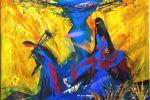 15. Кагаров Медат. Вдоль по реке. Х.,м. 90х110 см. 1996 г.