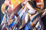 16. Кагаров Медат. Музыка для тебя. Х.,м. 100х100 см. 1996 г.