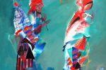 165. Кагаров Медат.тополек мой в красной косынке(посв.Ч.Айтматову) 08г. 90х80. х.м.
