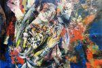 2. Кагаров Медат. Дама с зонтиком. Х.,м. 90х80 см. 1993 г.