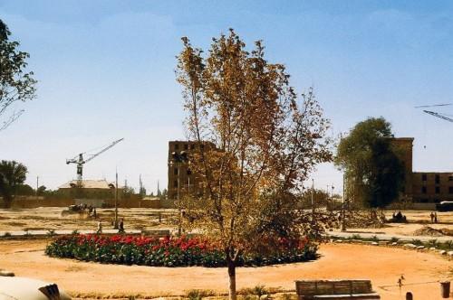 Cквер перед Пединститутом 1956 год