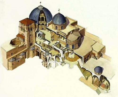 V hrame Groba Gospodny. Plan hrama. 900x740