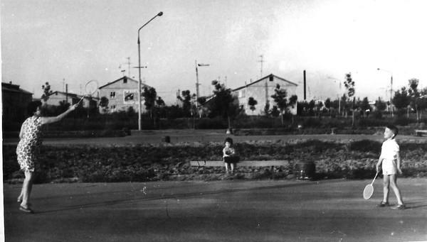 На площади в Спутнике (Сергели) 1968 г.