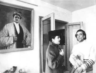 Батыр Закиров с журналисткой Юлдуз Тураевой