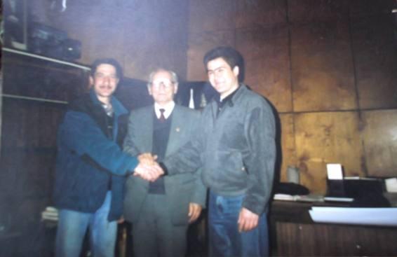 Ильяс Тухватулин, академик Вахидов и Салиджлн Шарипов. фото 1998 г.