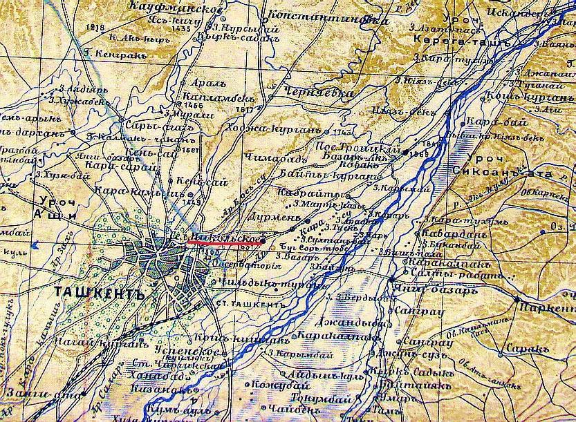 фото карта ташкент средние века