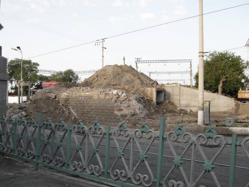 Реконструкция железнодорожного моста на Сарыкульке