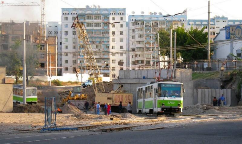 Строительство моста на Саракульке
