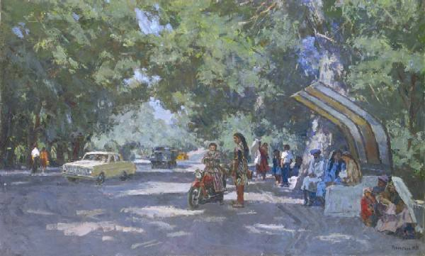 1972 г. худ. Рубинский Игорь Павлович. Дорога на Ташкент