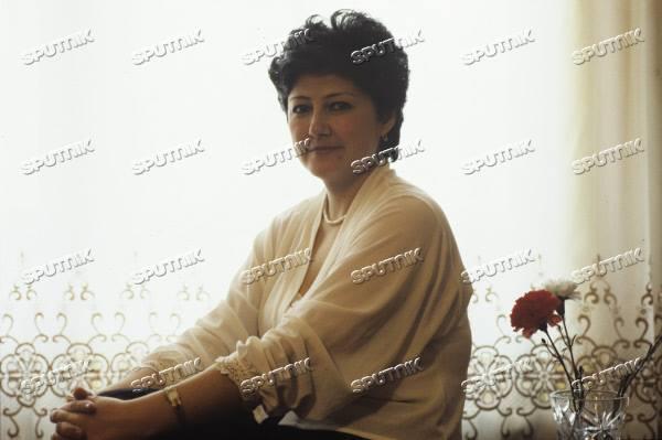 В одной из студий Узбекского телевидения. 1986 г. Фото: В. Радионов