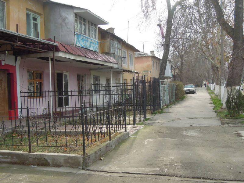 Вид улицы Есенина до строительства новой дороги